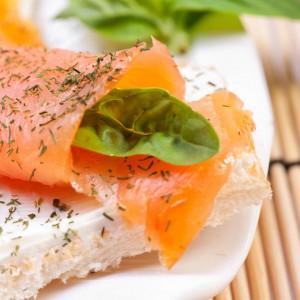 Fresh salmon sandwich