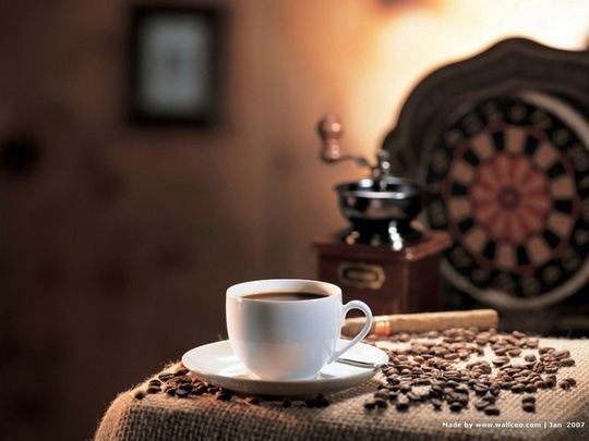 Молотый кофе очищает воду