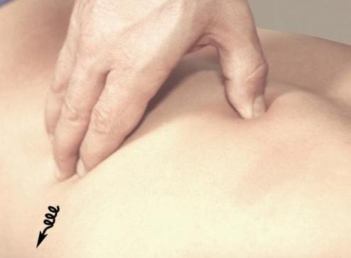 Прием массажа: растирание