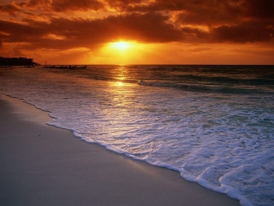 Фото заката на море