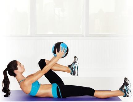 Упражнения с мячом на гибкость и растяжку