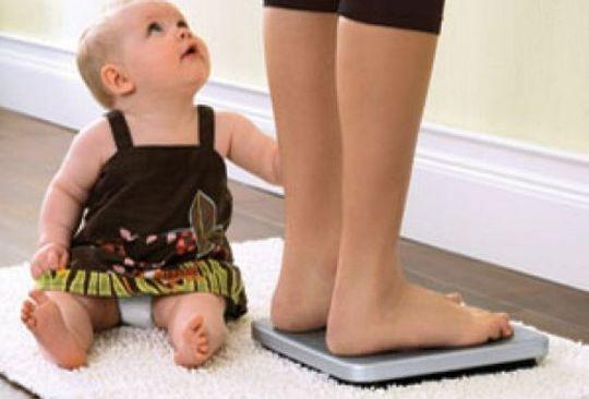 Лишний вес после первых родов