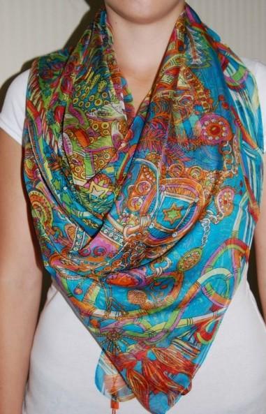 Шелковый платок каре