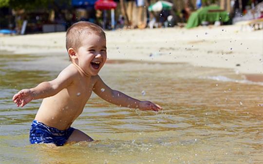 На пляж с ребенком