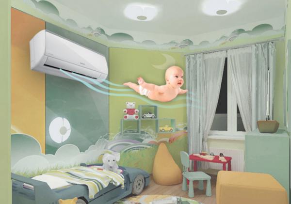 Шесть правил пользования кондиционером в детской комнате