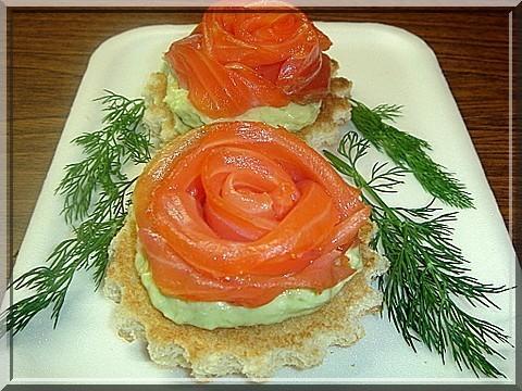Тарталетки с соленым индалем